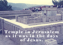 Photo of Temple in Jerusalem as it was in the days of Jesus.